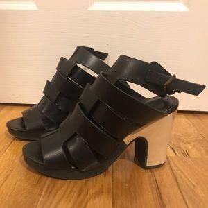 Perfect black heeled sandals